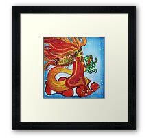 Clownfish Mermaid Framed Print