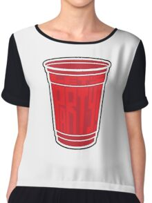 Red Cup Party by Tai's Tees Chiffon Top