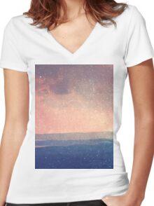 Landscape 03 Women's Fitted V-Neck T-Shirt