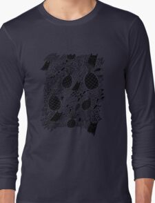 Black Cats and Pineapples Long Sleeve T-Shirt
