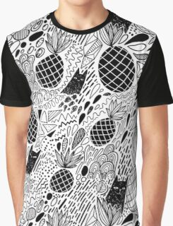 Black Cats and Pineapples Graphic T-Shirt