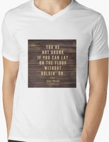 Drunk  Mens V-Neck T-Shirt