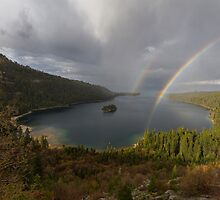 Double Rainbow - Emerald Bay by Richard Thelen