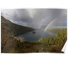 Double Rainbow - Emerald Bay Poster