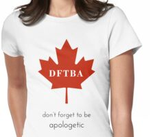 DFTBApologetic Womens Fitted T-Shirt