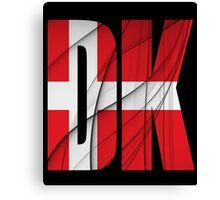 DK - Danmark Flag Canvas Print