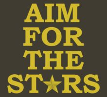 Aim for the Stars (Yellow) by ezcreative