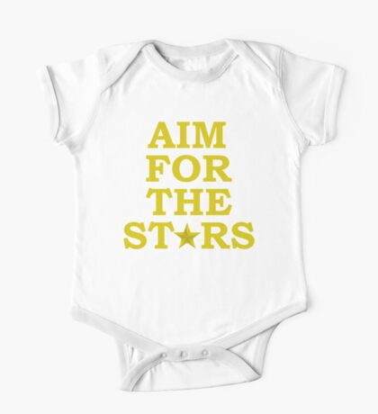 Aim for the Stars (Yellow) One Piece - Short Sleeve