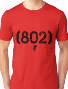 Area Code 802 Vermont Unisex T-Shirt