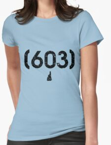Area Code 603 New Hampshire Womens Fitted T-Shirt