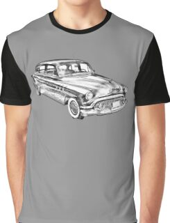 1951 Buick Eight Antique Car Illustration Graphic T-Shirt