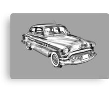 1951 Buick Eight Antique Car Illustration Canvas Print