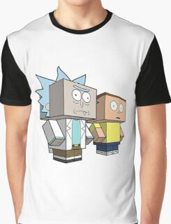 rick and morty meet minecraft Graphic T-Shirt