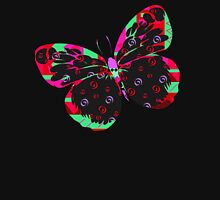 Phosphor butterfly Womens Fitted T-Shirt