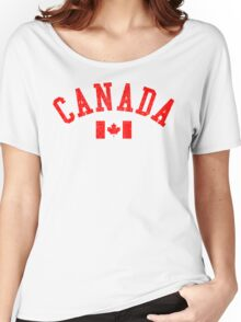 Canada Flag Vintage Women's Relaxed Fit T-Shirt