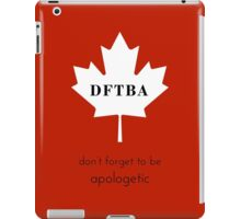DFTBApologetic iPad Case/Skin