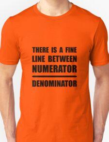 Numerator Denominator Unisex T-Shirt