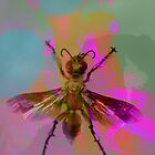 Bug on Psychedelic Background by michel bazinet