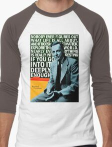 Richard Feynman Men's Baseball ¾ T-Shirt