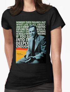 Richard Feynman Womens Fitted T-Shirt