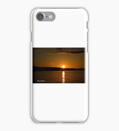 sunset in wisconsin dells iPhone Case/Skin