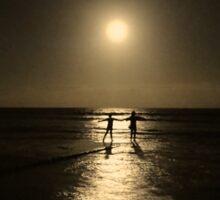 Dancing in the moonlight in yellow Sticker
