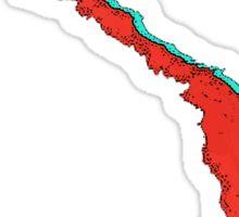 Vietnam Map With Vietnamese Flag Sticker