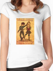 """How to Train Your Dragon 2 """"For the Dancing and the Dreaming"""" Women's Fitted Scoop T-Shirt"""