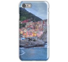 Manarola at dusk iPhone Case/Skin