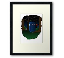 Toothless and The Tardis Framed Print