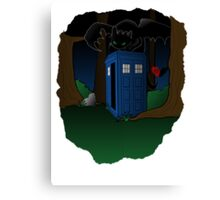 Toothless and The Tardis Canvas Print
