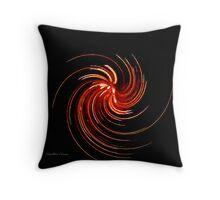 Copper Fire Throw Pillow