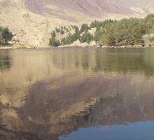 mountain reflection Sticker