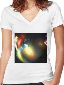 Smoke Dance Women's Fitted V-Neck T-Shirt