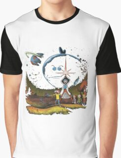 rick and morty Space Graphic T-Shirt