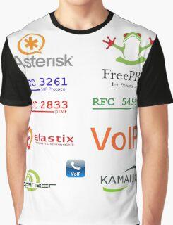 voip sip asterisk kamailio vozip sticker set Graphic T-Shirt
