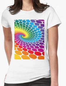 dots Womens Fitted T-Shirt