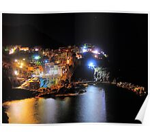 Manarola at night Poster