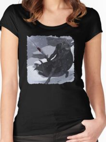 Argonian In Mountians Women's Fitted Scoop T-Shirt