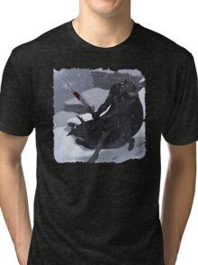Argonian In Mountians Tri-blend T-Shirt