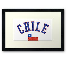 Chile Flag Vintage Framed Print