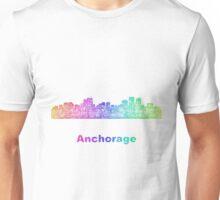Rainbow Anchorage skyline Unisex T-Shirt
