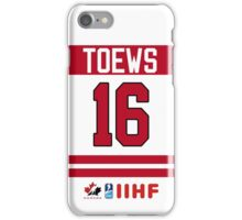 Jonathan Toews Team Canada iPhone Case/Skin