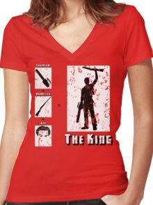 The King - Light Women's Fitted V-Neck T-Shirt