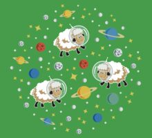 Space Sheep (white) One Piece - Short Sleeve