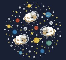 Space Sheep (white) One Piece - Long Sleeve