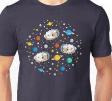 Space Sheep (white) Unisex T-Shirt