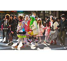 Harajuku Girls Street Style Photographic Print