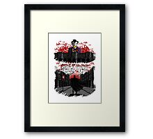 Attack on Gotham Framed Print