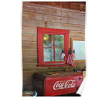 Patriotic Coca-Cola Machine Poster